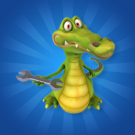 alligator wrench: Fun crocodile