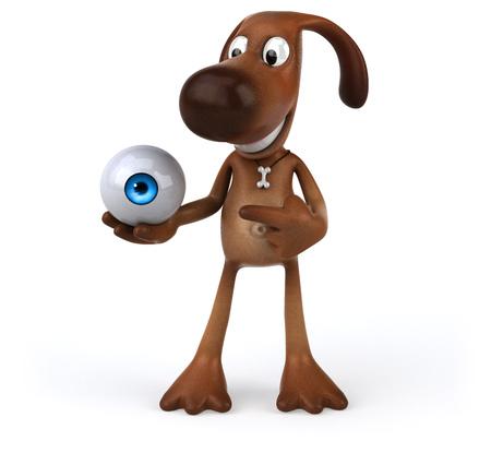 big brother: Fun dog Stock Photo
