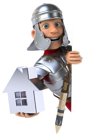 first house: Roman soldier
