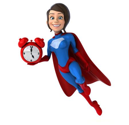 awake: Super woman Stock Photo