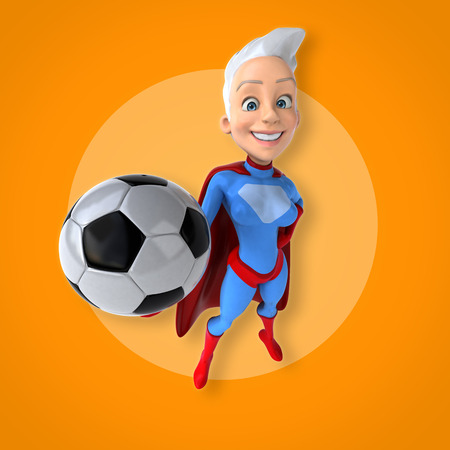 costume ball: Super woman Stock Photo