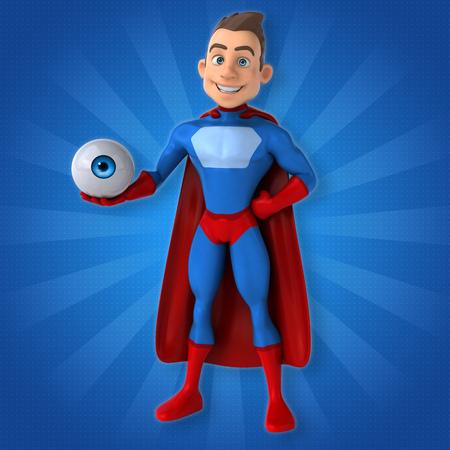 big brother: Fun superhero - 3D Illustration Stock Photo
