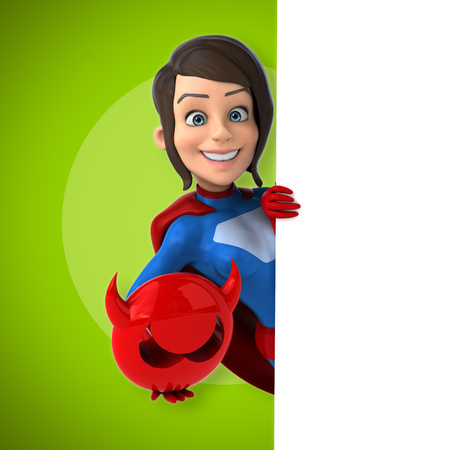 animal sexy: Super woman Stock Photo