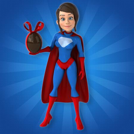 female fighter: Super woman Stock Photo