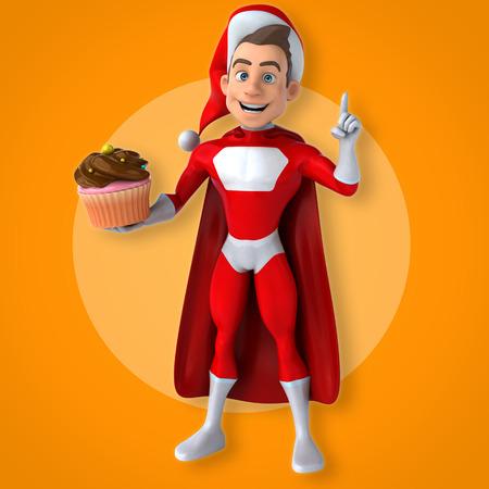 disguises: Fun superhero - 3D Illustration Stock Photo