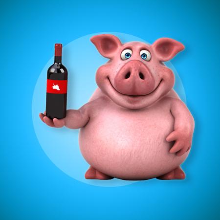 Fun pig - 3D Illustration
