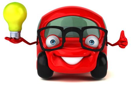 clipart street light: Fun car - 3D Illustration