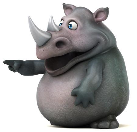 illustration: Fun rhinoceros - 3D Illustration