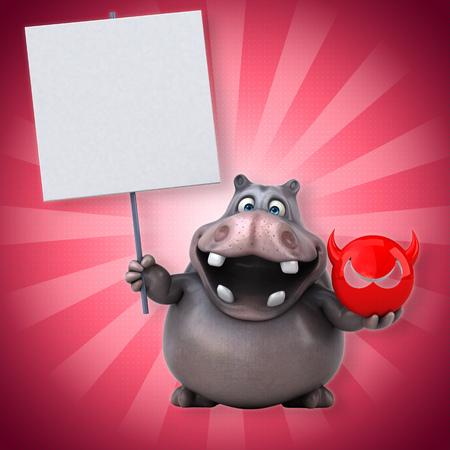 stomach bug: Hippo Stock Photo