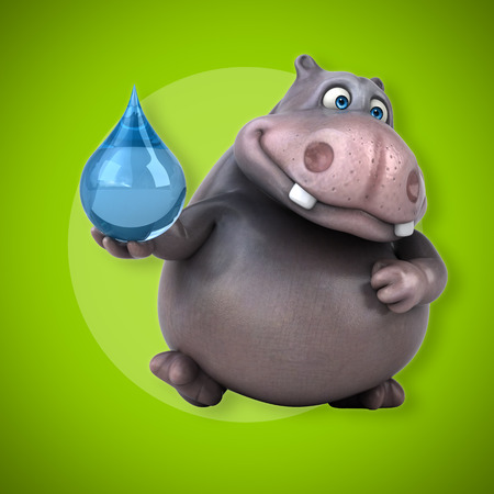 waterdrops: Hippo Stock Photo