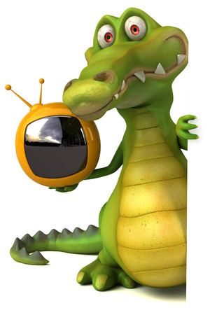 mouth screen: Fun crocodile