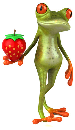 strawberry frog: Fun frog