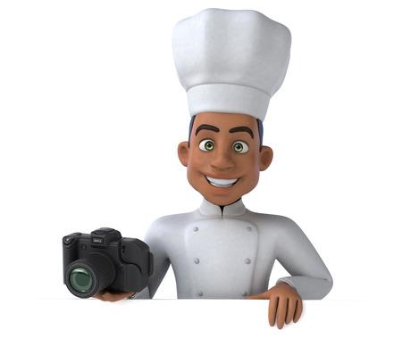 chef italiano: Diversión chef  Foto de archivo