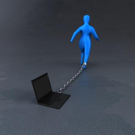 burden: Burden symbol - 3D Illustration