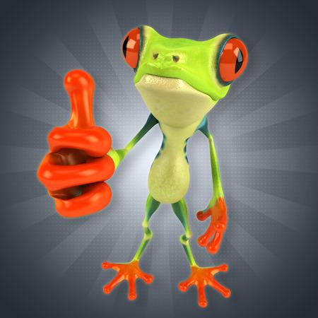 amphibian: Green frog Stock Photo