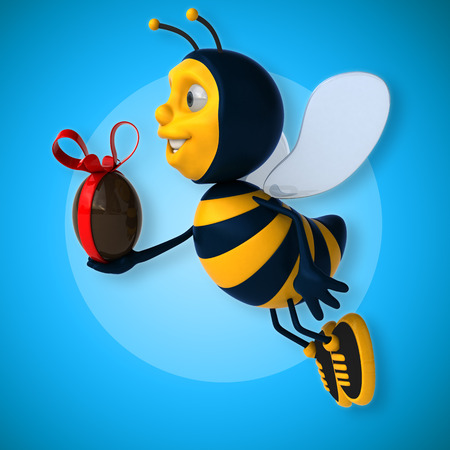 golden egg: Fun bee Stock Photo