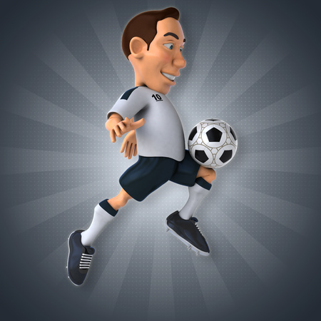 foot ball: Soccer player Stock Photo