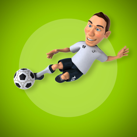 one team: Soccer player Stock Photo