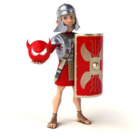 battle evil: Roman soldier