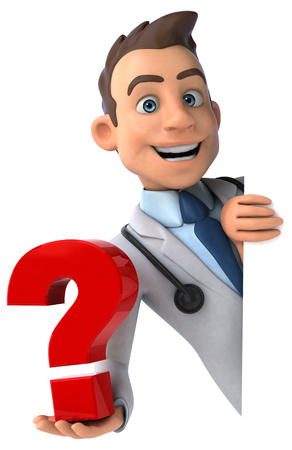 medical questions: Fun doctor Stock Photo