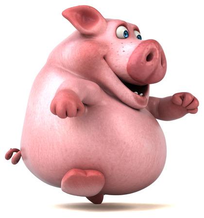 jog: Fun pig - 3D Illustration