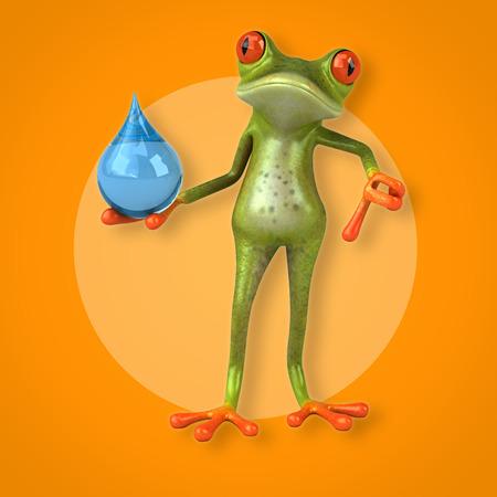 waterdrops: Fun frog