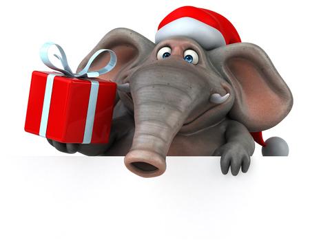 재미 코끼리 - 3D 그림 스톡 콘텐츠