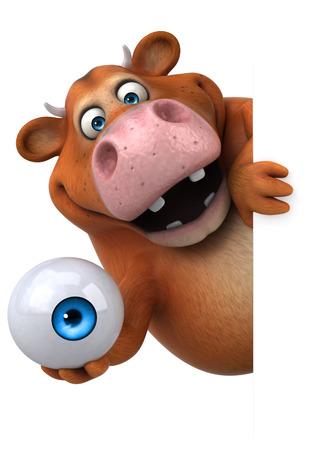 Leuke koe - 3D illustratie