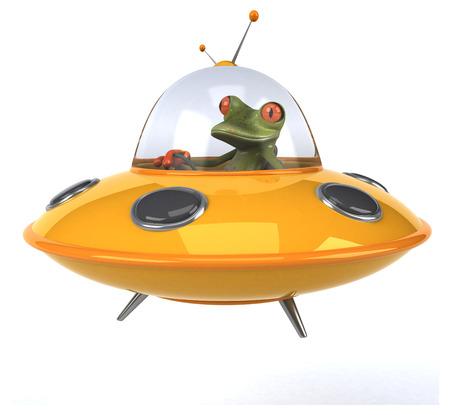 platillo volador: Fun rana