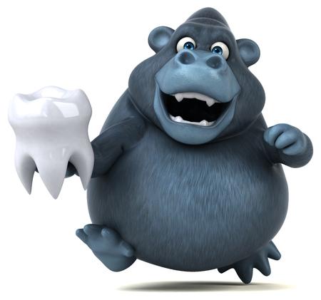 Fun gorilla - illustrazione 3D Archivio Fotografico - 67104952