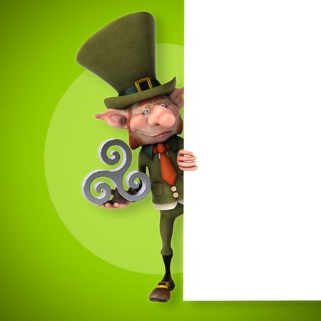 celtique: Fun leprechaun - 3D Illustration