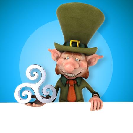 triskel: Fun leprechaun - 3D Illustration