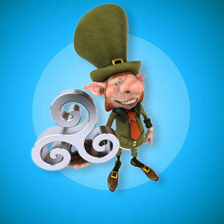 druid: Fun leprechaun - 3D Illustration