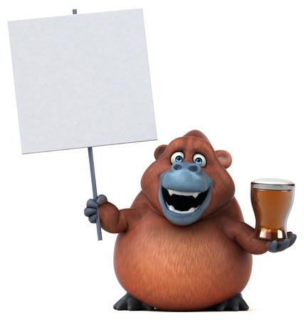 sumatra: Fun orangoutan - 3D Illustration