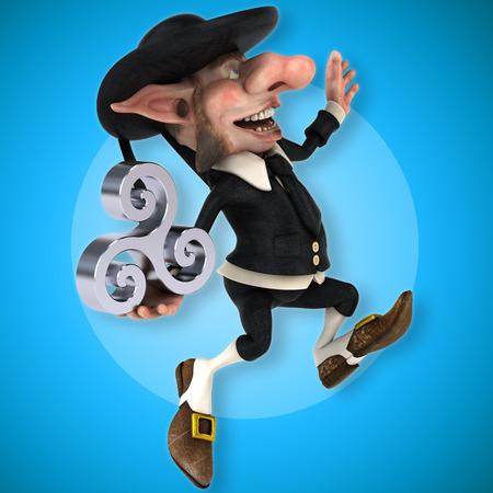 Fun Korrigan - 3D Illustration Stock Photo