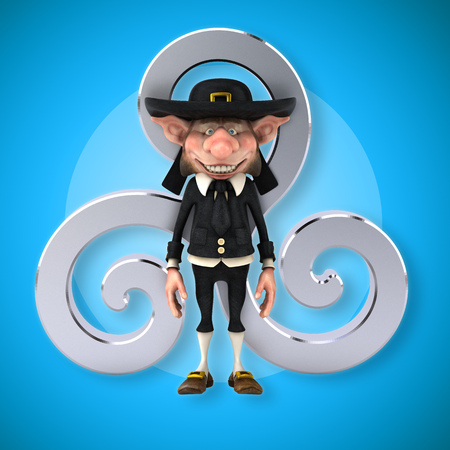 celtique: Fun Korrigan - 3D Illustration Stock Photo