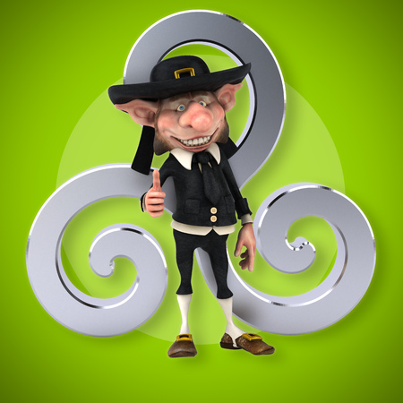 triskel: Fun Korrigan - 3D Illustration Stock Photo