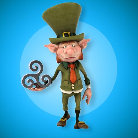 breton: Fun leprechaun - 3D Illustration