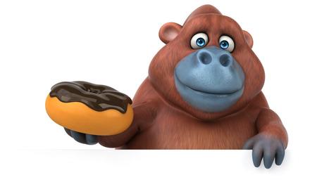 primates: Fun orangoutan - 3D Illustration