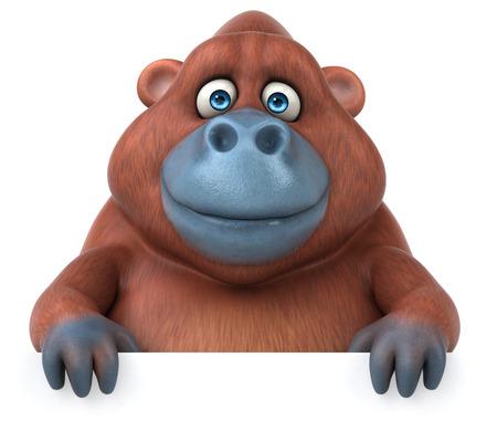sumatra: Fun Orangutan - 3D Illustration