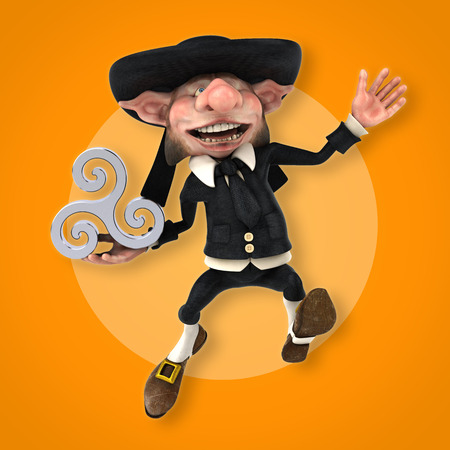 Fun Korrigan - 3D Illustration Stock Photo