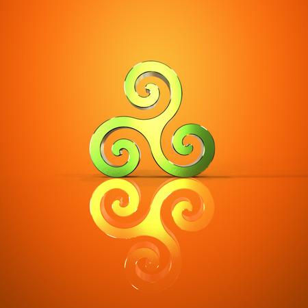 celtique: Triskel - 3D Illustration Stock Photo