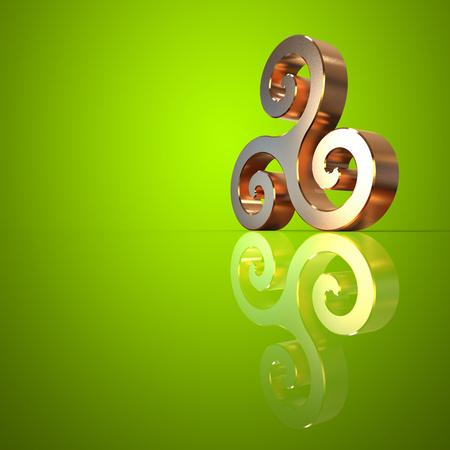 triskel: Triskel - 3D Illustration Stock Photo