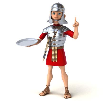 food fight: Roman soldier