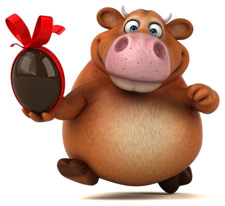 cantal: Fun cow - 3D Illustration