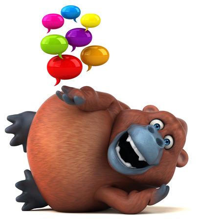 Fun orangoutan - illustrazione 3D Archivio Fotografico - 67996922