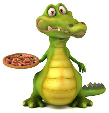 картинка крокодил в фартуке цветном папамобиль неофициальное