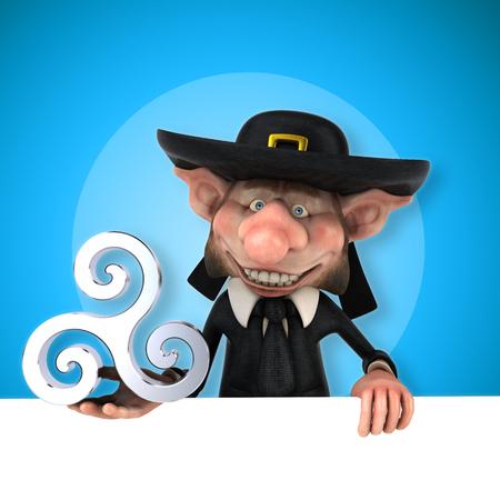 bretagne: Fun Korrigan - 3D Illustration Stock Photo