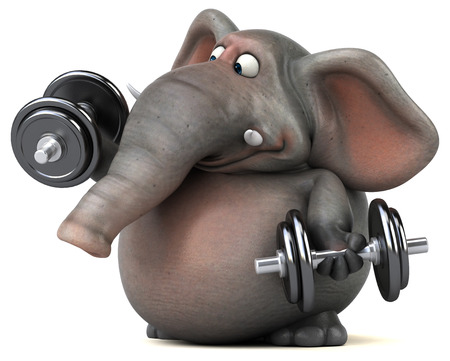 jungle gyms: Fun elephant - 3D Illustration Stock Photo