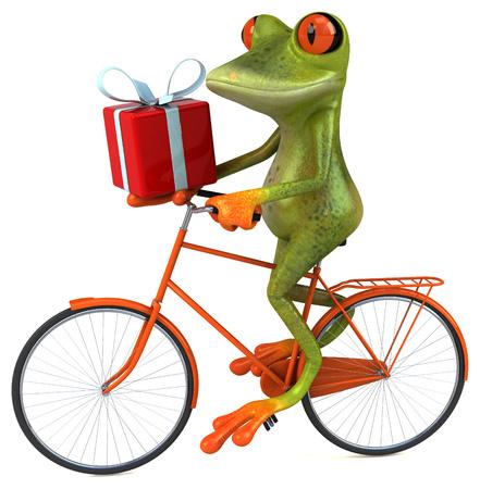 Fun frog Stock Photo - 74146827